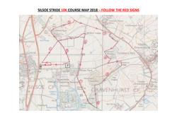 Silsoe Stride 10K Course Map