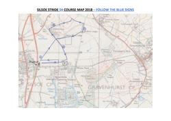 Silsoe Stride 5K Course Map